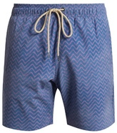 Faherty Zigzag-print swim shorts