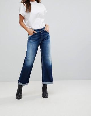 Replay Wide Leg Skater Jean-Blue