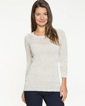 Le Château Linen Blend Scoop Neck Sweater