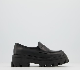 Office Midlands Chunky Loafers Black Leather