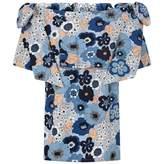 Chloé ChloeGirls Blue Floral Print Cotton Dress
