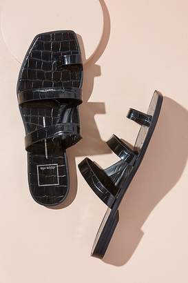 Dolce Vita Croc-Embossed Leather Sandals