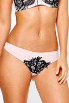 Boohoo Vanessa Nude Contrast Lace Thong