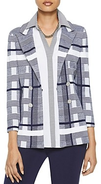 Misook Bold Plaid-Knit Blazer