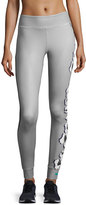 adidas by Stella McCartney Yoga Floral-Print Leggings, Ice Gray/Granite