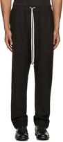 Rick Owens Black Wool Mesh Lounge Pants