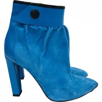 Balenciaga \N Blue Suede Ankle boots