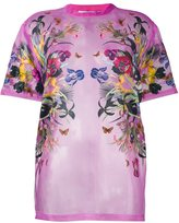 Givenchy floral print sheer T-shirt