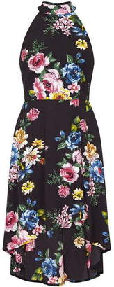 Yumi London Curve Colourful Floral High Low Dress