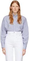 Isabel Marant Blue Silk Macao Shirt