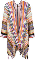 Missoni knitted long cape