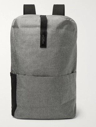 Brooks England - Dalston Medium Leather-Trimmed Tex Nylon Ripstop Backpack - Men - Gray