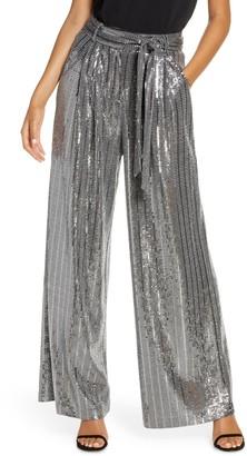 Brinker & Eliza Wide Leg Sequin Pants