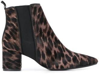 Anna Baiguera Leopard Print Ankle Boots