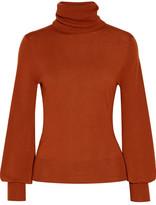 Chloé Wool Turtleneck Sweater - Brick