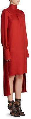 Chloé Pleat Back High Low Dress