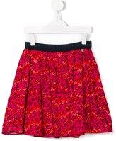 Kenzo pleated leopard skirt