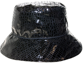 Nine West Black Snake Skin Print Waterproof Bucket Hat