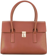 Paul Smith foldover top Concertina tote bag - women - Leather - One Size