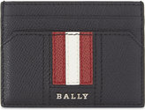 Bally Thar Striped Leather Card Holder