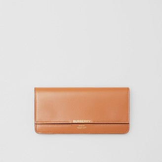 Burberry Horseferry Embossed Leather Continental Wallet