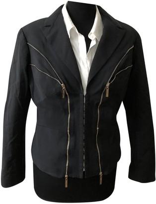 Elisabetta Franchi Black Cotton Jacket for Women