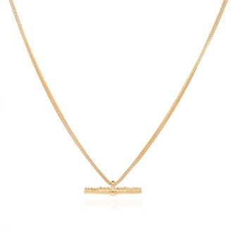 Coco Mango Jewellery Luxe Reign 18K Gold T Bar Necklace