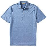 Roundtree & Yorke Gold Label Short-Sleeve Mini-Stripe Polo Shirt