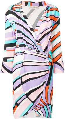 Emilio Pucci Shell print belted wrap dress