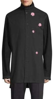 Y-3 Cotton Flower Button-Down Shirt