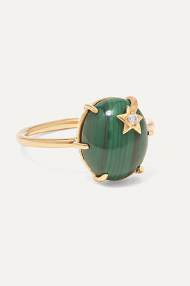 Andrea Fohrman Mini Galaxy 18-karat Gold, Malachite And Diamond Ring