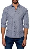 Jared Lang Men's Dot Sneaker Sport Shirt