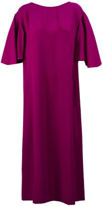 Alberta Ferretti Pink Boat Neck Shift Dress