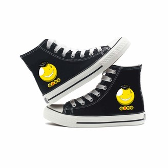 YiqiUime Assassination Classroom Shoes Sneakers Lace-Up Canvas Trainers Anime Printing Shoes Unisex (Color : Black11 Size : EU40 US8.5)