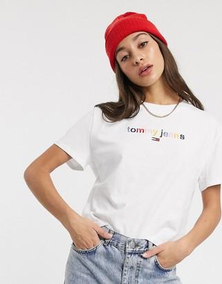 Tommy Jeans multicolour logo t-shirt