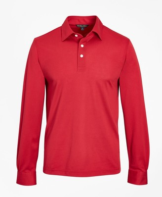 Brooks Brothers Tailored Lightweight Supima Cotton Pique Long-Sleeve Polo Shirt