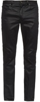 John Varvatos Slim-leg Coated Cotton-blend Jeans