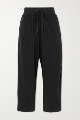 James Perse Lotus Cotton-jersey Track Pants - Black
