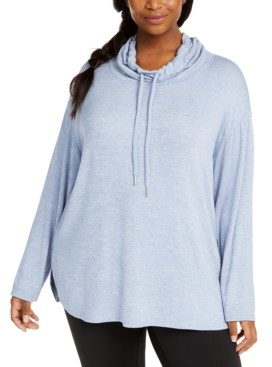 Calvin Klein Plus Size Cowl-Neck Top