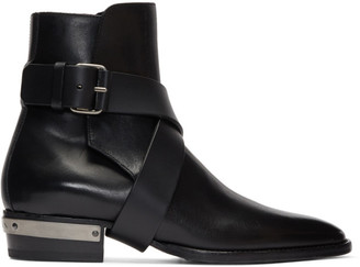 Balmain Black Page Ankle Boots