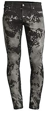 Nudie Jeans Men's Tight Terry Punky Worn Acid Wash Skinny Jeans
