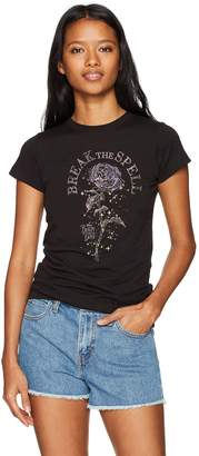 Disney Women's Beauty and The Beast Rose Spells Crew Neck Graphic T-Shirt