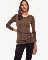 Ann Taylor Petite Draped Extrafine Merino Wool Sweater