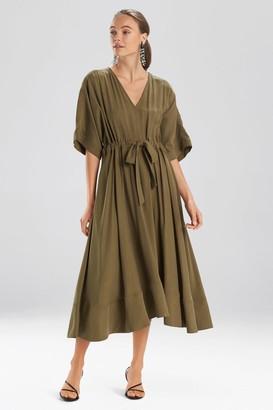 Natori Sanded Twill Dress