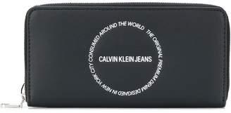 Calvin Klein Jeans large double zip-around wallet