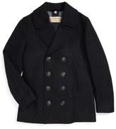 Burberry 'Kirkham' Wool & Cashmere Peacoat