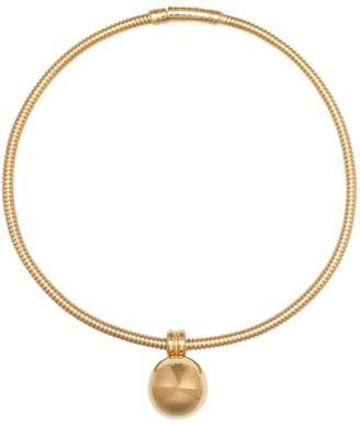 Bottega Veneta Gold-plated tube chain choker
