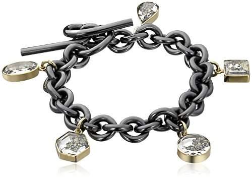 Moritz Glik Kaleidoscope 18K Gold Black and Yellow Diamond Charm Bracelet