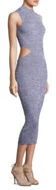 Suno Melange Cutout Bodycon Dress