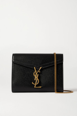 Saint Laurent Cassandra Textured-leather Shoulder Bag - Black